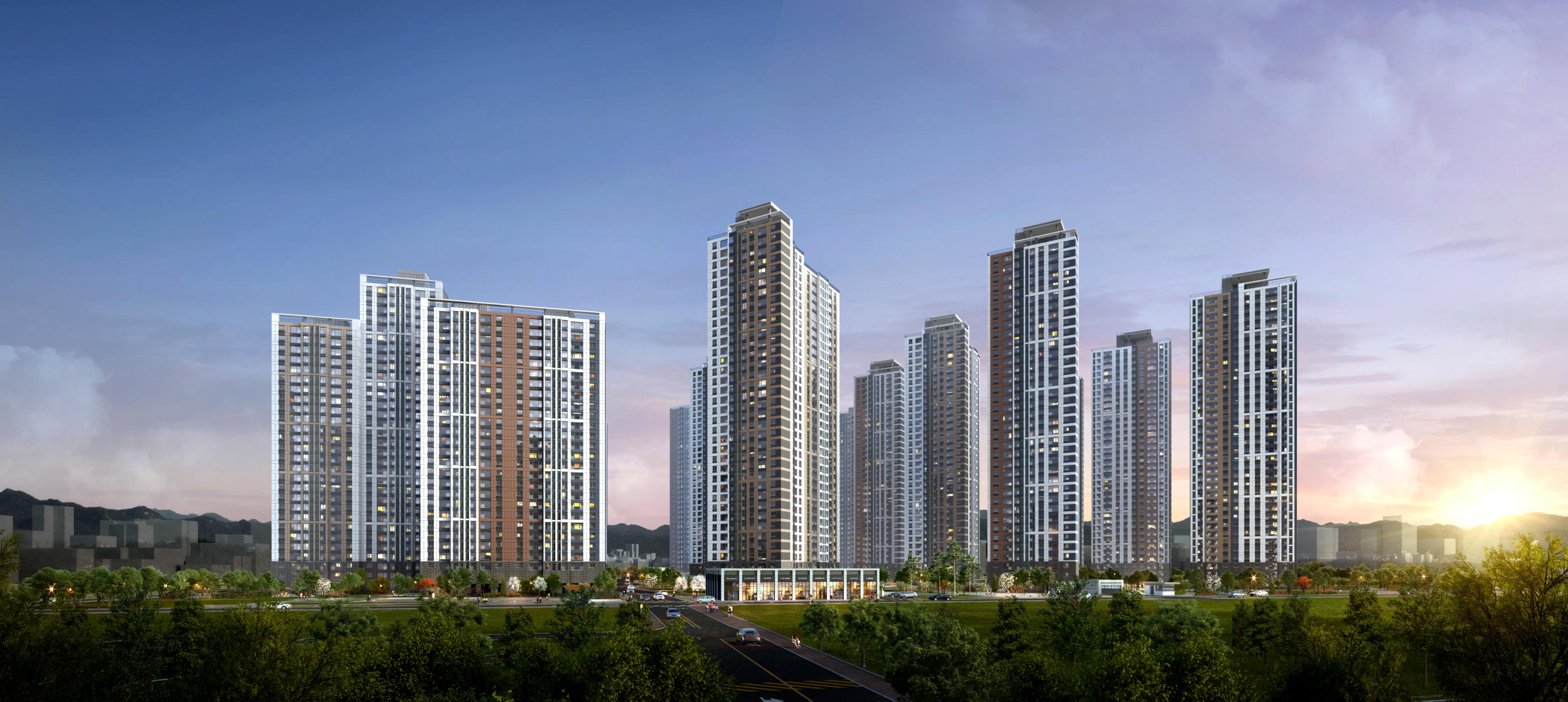 GS건설, 의정부역 센트럴자이&위브캐슬 23일(금) 견본주택 오픈