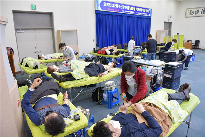 """부산시,혈액난 해소를 위한 '제2회 직원 헌혈의 날' 개최 """"소중한 생명을 구하는 헌혈에 적극 동참해주세요!"""""""