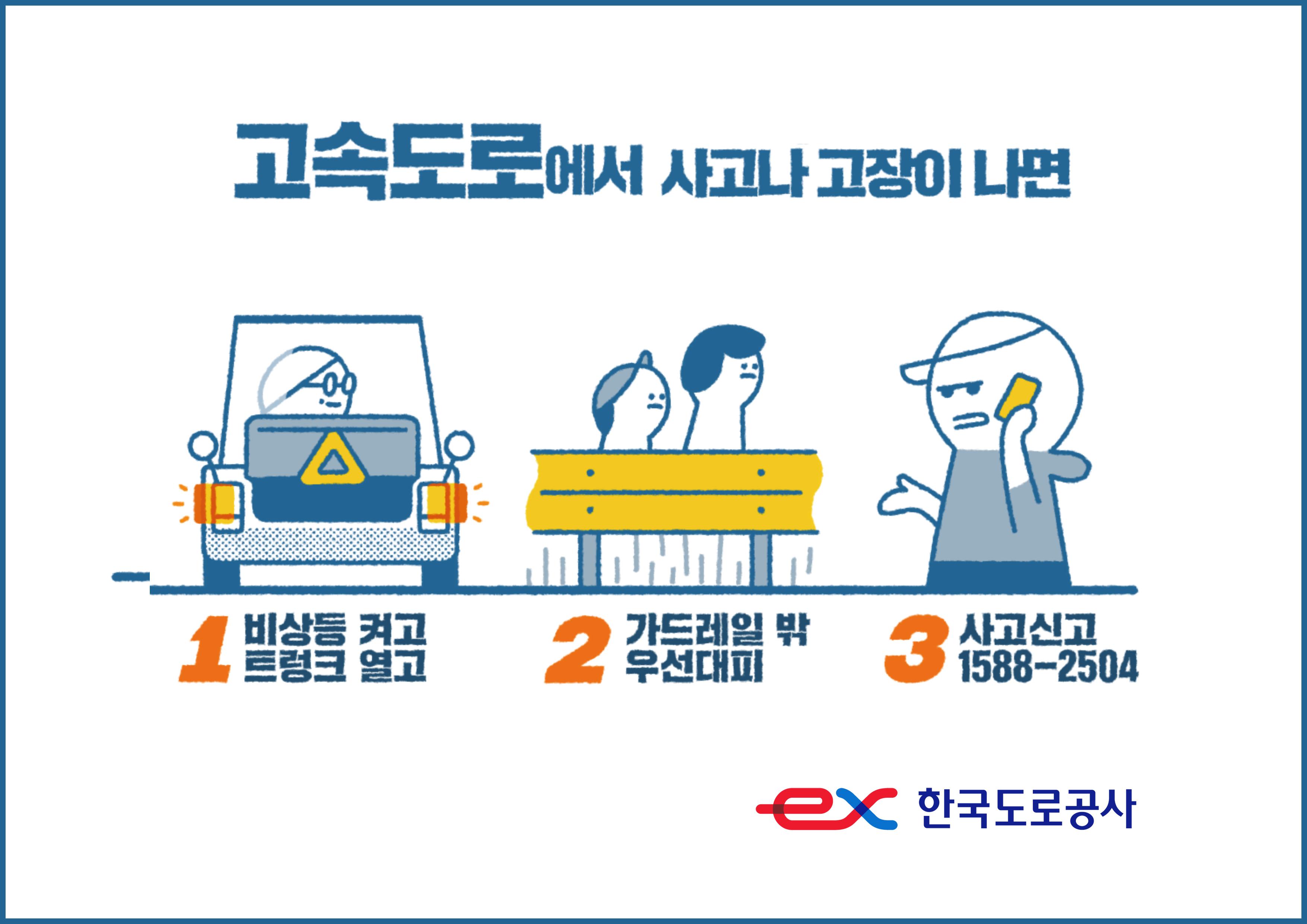 한국도로공사,올해 고속도로 사망자 8명 중 5명이 2차사고로 사망!운전자 행동요령 및 안전운전 실천 당부